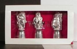 Wallace Silverplated Snowmen Mini Bell Set of 3 EUC in Box Matte Finish - $14.80