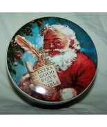 Vintage Daher Santa Claus Tin w/Lid-Made in England-4 1/2 inches across - $8.00