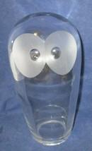 "7"" Scandinavian Crystal Owl Paperweight Signed Edenfalk Skruf - $26.18"