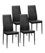 Set of 4 PVC Dining Side Metal Frame Chairs - $113.73