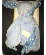 Kelly Baby 2018 Blue Rabbit Security Blanket Lovey W/ Rattle NEW NWT - $19.79