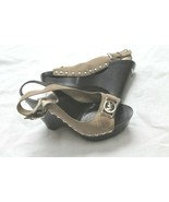 Michael Kors SZ 6.5 Wedge KLOGS CLOGS Sandal SHOES MK LOGO CHARM SLINGBACK  - $29.70