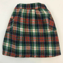 Vintage Doll Clothes Cinderella Skirt Tagged Plaid Flannel Clothing Pock... - $9.89