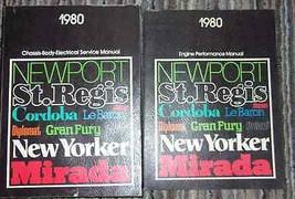 1980 Chrysler ASPEN CORDOBA MIRADA NEW YORKER NEWPORT Service Shop Manua... - $59.40