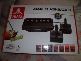 NEW Atari Flashback 8 GAME CONSOLE W/ 105 GAMES & Controllers 40th Anniv... - $38.69
