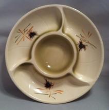 Lane & Co. Van Nuys California Pottery 1961 Chip & Dip Tray Cream Off White - $24.70