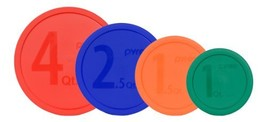 Pyrex MIXING BOWL LID Set: 1 326-PC Red, 1 325-PC Blue, 1 323-PC Orange,... - $15.75