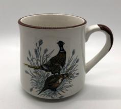 Vintage Enesco Designed Giftware Mug 1986 Ceramic With Birds Collectible - $15.98