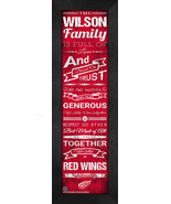 "Personalized Detroit Red Wings ""Family Cheer"" 24 x 8 Framed Print - $39.95"