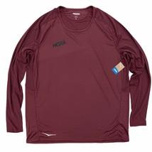 HOKA ONE ONE Men's Performance Long Sleeve Running Shirt T-Shirt XL Maroon - $54.99