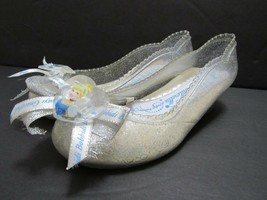 Disney Cinderella Costume Light Up Heels Shoes Glass Slippers Bow Girls Sz 9 10 - $18.58