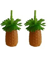 Luau Pineapple Palm Tree Sipper Bottles Cups wi... - £7.61 GBP