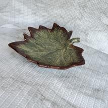 "Ceramic Grape Leaf Dish, 7"", Pottery Spoon Rest, Bowl, Teabag Holder, Soap Dish image 6"