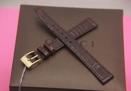 New Gucci 12 MM Genuine Lizard Leather Band in Dark Burgundy  (12.112) - $27.95