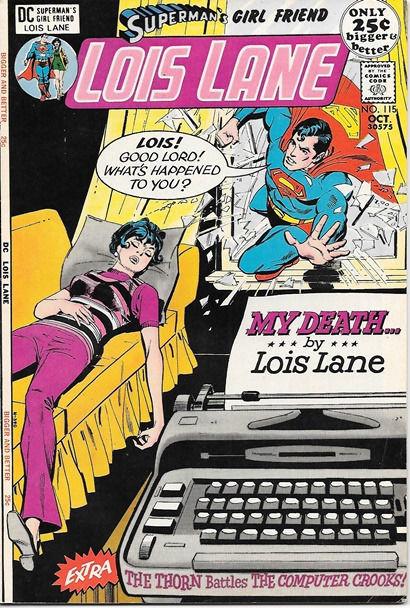 Superman's Girlfriend Lois Lane Comic Book #115, DC Comics 1971 VERY FINE-