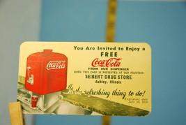1939 Coca-Cola Siebert Drug Store Soda Fountain Discount Card - $14.89