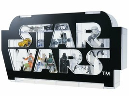 Star Wars logo display case FROM JAPAN NEW. - $145.92
