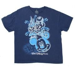 Walt DISNEY World Mickey Mouse New Years Eve 2012 Womens Size XL Blue T-Shirt - $18.80