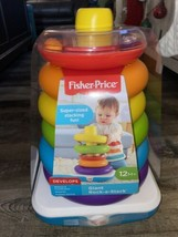 Fisher Price ~ Giant Rock-A-Stack Super Sized Stacking Rings Problem Solving - $23.36