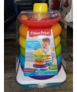 Fisher Price ~ Giant Rock-A-Stack Super Sized Stacking Rings Problem Sol... - $23.36