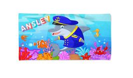 Dolphin Sailor Personalized Beach Kids Towel , Summer Gift ,Bath Towel, ... - $24.99+