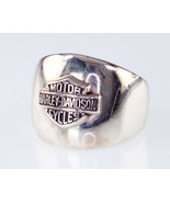 Harley Davidson Sterling Silver Plaque Ring Size 8 - $173.23