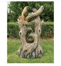 Tree Squirrel Cascading Fountain (gf) - $891.00