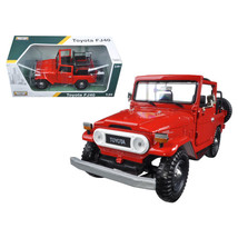Toyota FJ40 Convertible Red 1/24 Diecast Model Car by Motormax 79330R - $36.58
