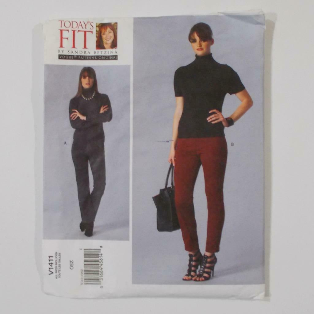 Todays Fit Vogue Pants Pattern V1411 Sandra Betzina Size OSZ Uncut