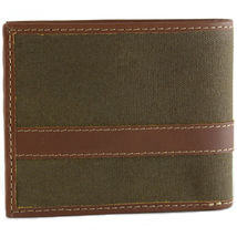 Timberland Men's Hunter Leather Waxed Canvas Credit Card ID Passcase Wallet image 11