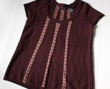 Axcess Ladies Cap Sleeve Sweater Size Large Burgandy Wine