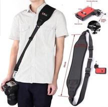 Camera Strap Rapid Black Belt Quick Release Single Shoulder Neoprene Cam... - $31.99