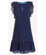 J.Crew Womens Blue White Polka Dot Flutter Sleeve Midi Dress Size XL NWT - $43.64