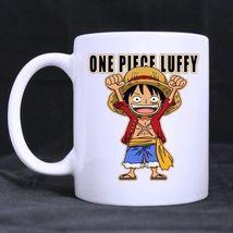 One Piece Monkey D Luffy Cute Custom Personalized Coffee Tea White Mug - $13.99