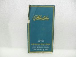 1979 MALIBU *missing back cover* Owners Manual 16087 - $14.80