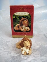 Hallmark Keepsake Christmas Ornament Lion Holding Lamb 1997 Rare IOB - $9.89