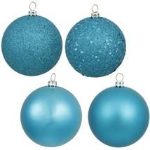 Vickerman 4-Finish Ornament Set, Includes 60 Per Box, 2.4-Inch, Turquoise - $39.80