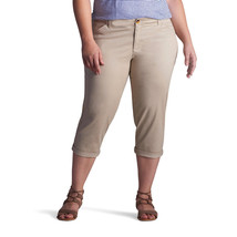 Lee Chino Midrise Crop Pants Bungalow(Khaki)  Women's Sz 14M NWT MSRP$50... - $27.39