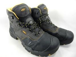 Keen Logandale Size 13 M (D) EU 47 Men's WP Steel Toe Work Boots Black 1017828
