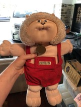 Cabbage Patch Vintage Koosas Animal Cat Lion Dog Ted Overalls Outfit - $9.99