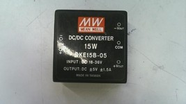 Mean Well 15W DC/DC Converter PCB Mount Regulated Dual Output 1.5A DKE15... - $12.86
