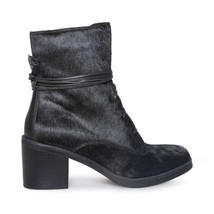 UGG ORIANA EXOTIC BLACK LEATHER ANKLE STACKED HEEL WOMENS BOOTS SIZE US ... - $151.99