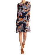 MARKS & SPENCER PER UNA Floral Print Long Sleeve Shift Dress Size UK 14 ... - $38.15