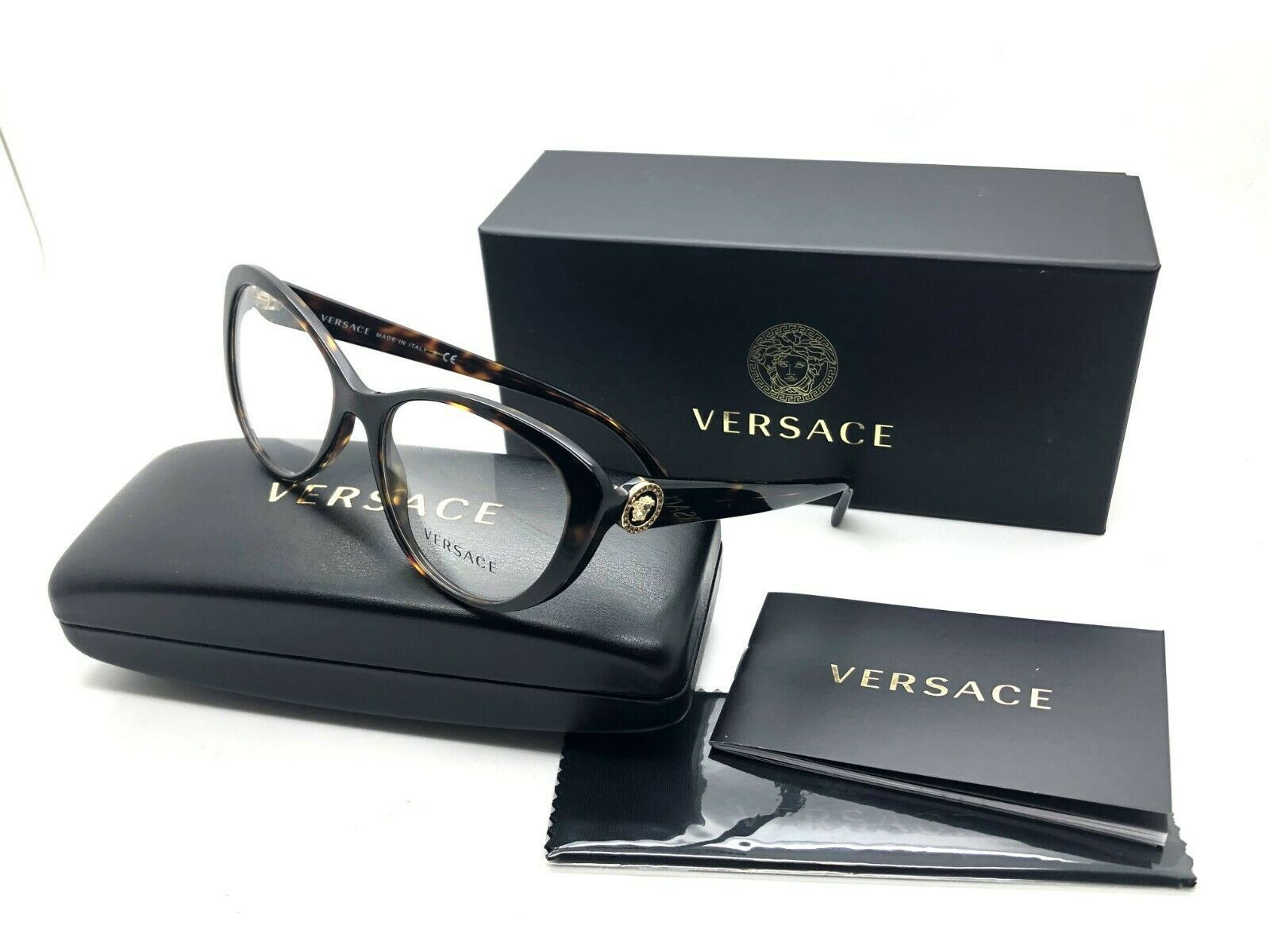 cda316ad0f91 Versace Women s Tortoise Glasses with case and 50 similar items. 57