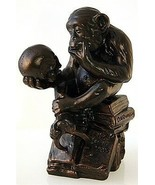 Philosophizing Monkey w Skull Statue Sculpture 1892-93 Rheinhold Bronze ... - $64.02