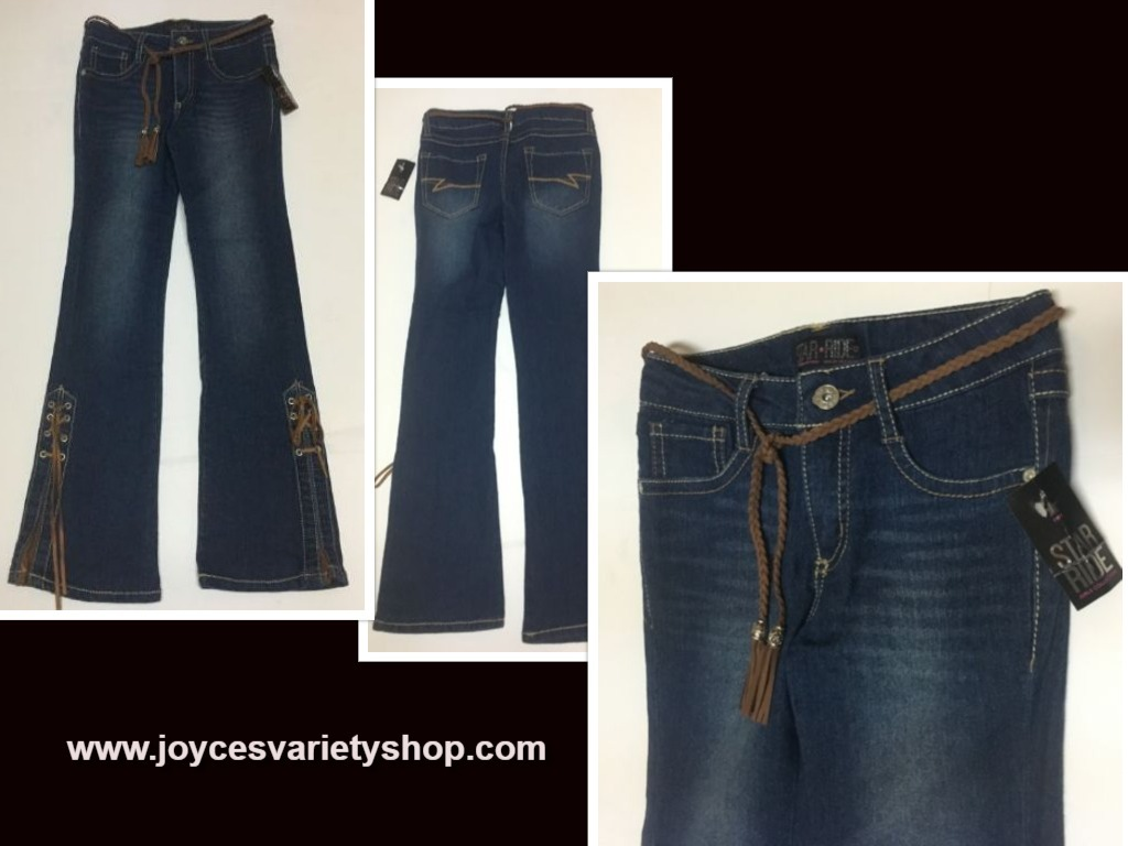 Primary image for Star Ride Western Flare Blue Jeans Girl's Sz 12 NWT