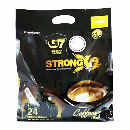 Primary image for Trung Nguyen - G7 Strong X2 3 In 1 Instant Coffee - 24 sticks | Roasted Ground C