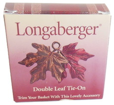 Longaberger Double Leaf Tie On Decorative Accessory Basket Autumn Fall M... - $7.95