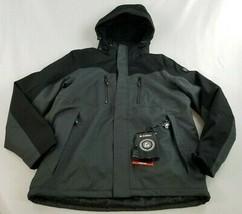 new Killtec men jacket coat ski Toggi colorblock 35242 89B grey black sz L - $93.53