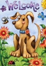 Welcome Springtime Puppy  Garden Flag 2745 - $7.95